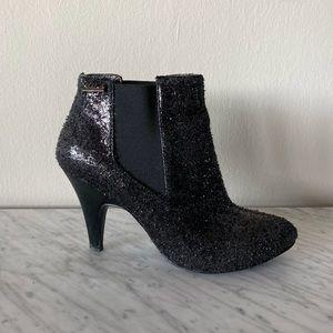 KILLAH glitter boots boties heels black sparkle